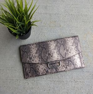 ASOS Snakeskin Metallic Clutch